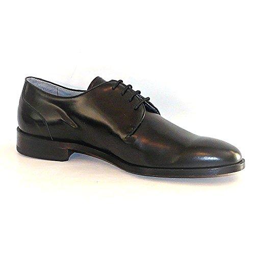 WORLAND Mod.1175 Große Zahlen 100% Made in Italy - Herren Schuhe Anziehen Leder Schwarz