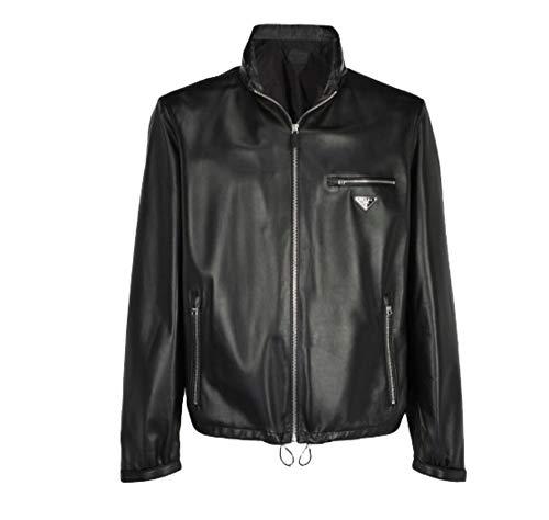 Prada Luxury Fashion Man UPW2406N3F0002 Black Leather Outerwear Jacket | Fall Winter 19