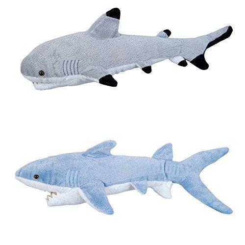 ADVENTURE PLANET - Set of 2 Plush SHARKS - 13