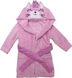 Children\'s Animal Hooded Bath Robe - Princess Cat (4T-6T)