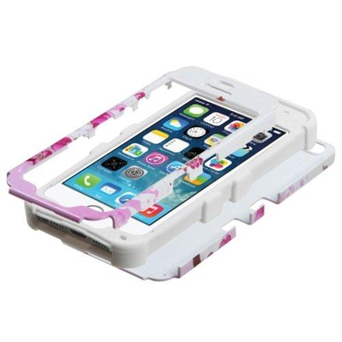 MYBAT Tuff hybride téléphone protection de l'emballage–Emballage–Fleurs de printemps/blanc solide