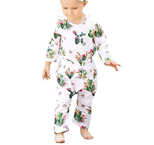 Gold Note Eighth (Infant Baby Boys Girls Long Sleeve Cactus Print Tops+Pants Clothes Outfits Set)
