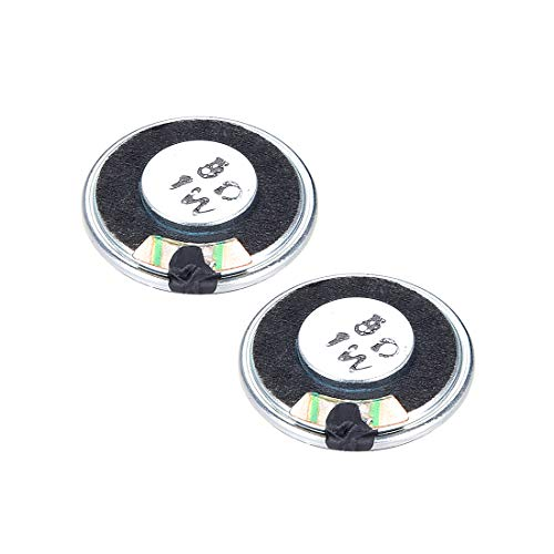 uxcell/® 0.5 W 8 Ohm DIY Speaker 40mm Round-Shape Replacement Loudspeaker 2pcs