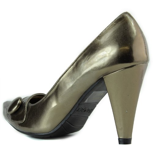 ... Womens Støtfanger Magic-01 Spisse Pumps Bronse Pu ...