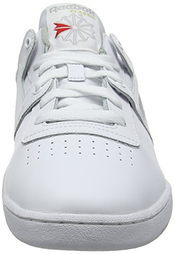 Grey da Scarpe Fitness Reebok Uomo Workout Int 000 Bianco White Low 6FZp4