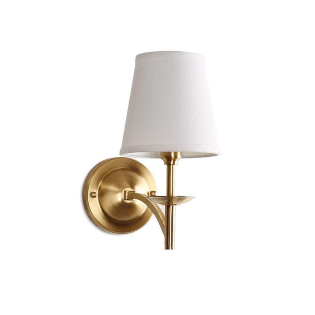 Chuiqingwang アメリカの銅の壁ランプ現代のミニマリストのリビングルームの廊下通路寝室のベッドサイドランプシングル銅ランプの壁ランプ B07SBCMWZL