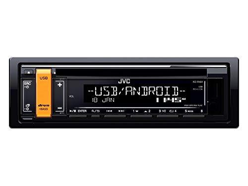 V10 JVC KDR491 1DIN Radio CD USB Variocolor inkl Einbauset f/ür Nissan Almera Tino 2000-2003