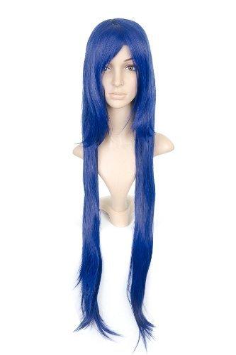 Dark blu Long Length Anime Costume Cosplay Wig by Cosplay Depot