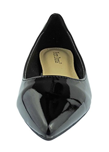 Dumas Fashion Patent Flats 10 Abby Leather Vegan Shoes Toe Black Dress Slip Women's Pierre On Pointed SRvHxwFdSq