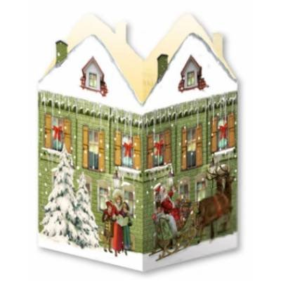 Deluxe Mini Advent Calendar - Nostalgic House Tealight Lantern - Green House Coppenrath Verlag