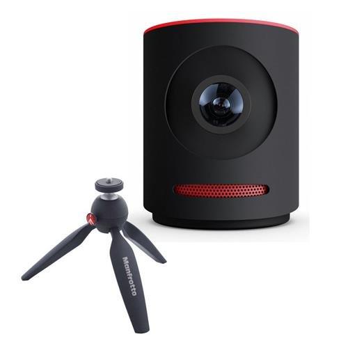 Mevo Live Event Camera by Livestream, Black - Bundle With Manfrotto PIXI Aluminum Mini Tripod - Black