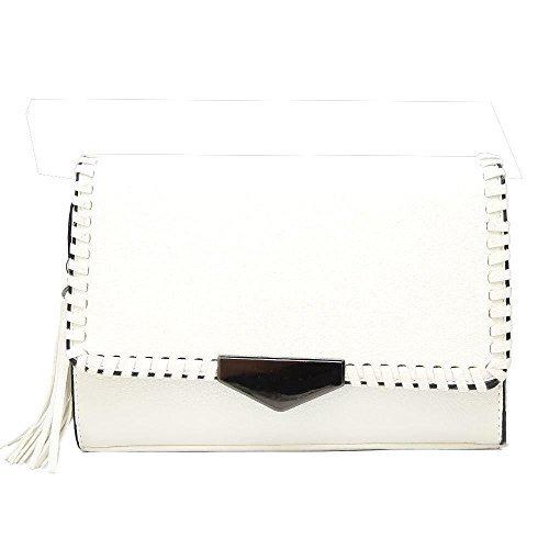 Bag Women White Diva CrossBody Stitches White For Tassel Haute gOSxq
