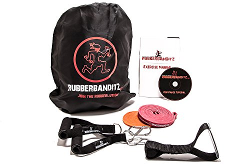 RubberBanditz Resistance Band Kit in a Bag, Choose from 3 Exercise Band Sets, 5-200 pounds – for Mobility, Stretching, Pilates, Home Fitness Bands, Travel Workouts, Pull Ups, Powerlifting & CrossFit Review