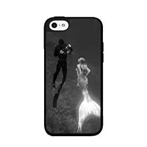 Mermaid and Scuba Diver- TPU RUBBER SILICONE Phone Case Back Cover iphone 5c iphone 5c