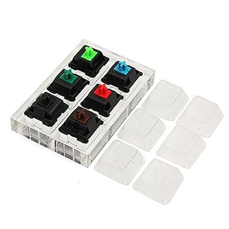 Tutoy 6 X Teclado Mecánico Interruptores Tester Kit Claro Teclas Sampler para Cherry MX: Amazon.es: Hogar