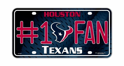 NFL Houston Texans #1 Fan Metal Auto - Malls Houston