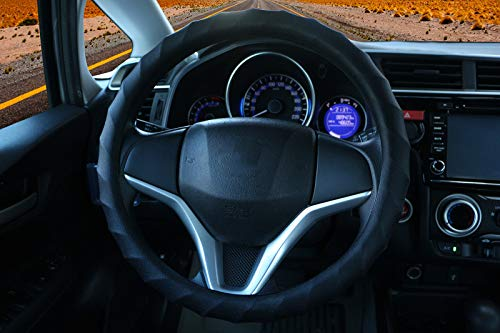 Soft Silicone Car Steering Wheel Cover Car Steering Wheel Cover for cars, vans, trucks, and SUVs (Black)