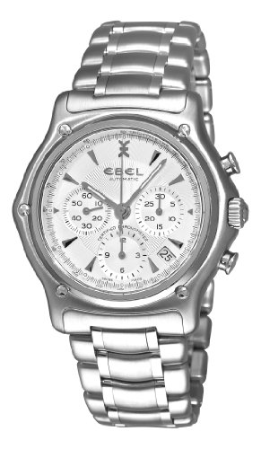 Ebel Men's '1911' Swiss Automatic Stainless Steel Sport Watch, Color:Silver-Toned (Model: 9137L40/6360)