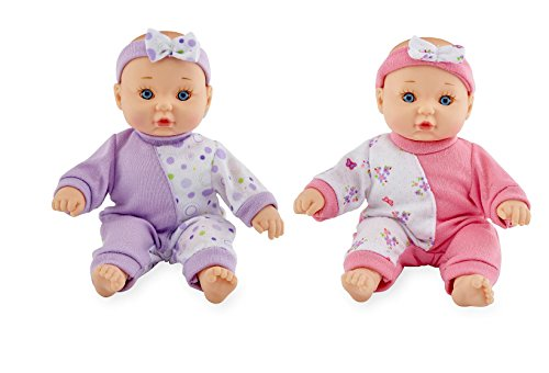Set of 2: You & Me 8 inch Mini Baby Doll - Purple & Pink