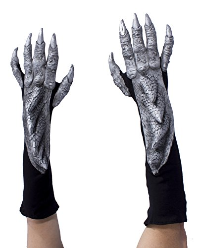 Zagone Studios Silver Dragon Gloves with Scales -