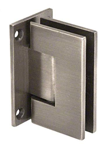 CRL Geneva 537 Series Antique Brushed Nickel Wall Mount Full Back Plate Standard Hinge with 5186; Offset