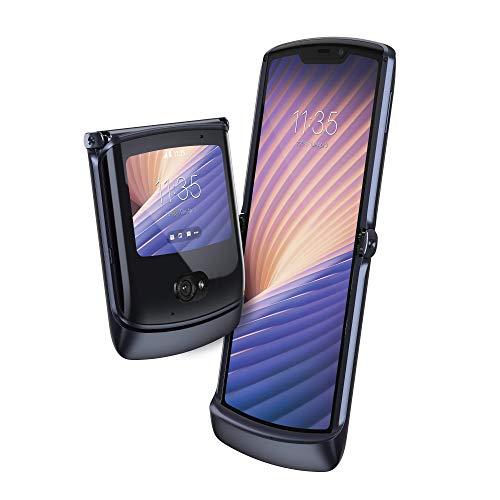 Motorola razr 5G – Smartphone 5G, pantalla 6.2″ HD+ FlexView, procesador Qualcomm Snapdragon 765, cámara principal de 48MP, batería de 2800 mAH, Dual SIM, 8/256GB, Android 10 – Color Negro