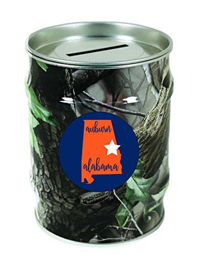 - Auburn Alabama Camo Tin Money Bank