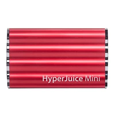 HyperJuice Mini 7200mAh External Battery for iPhone, iPad, iPods, and Any USB Ready Device - Extended Capacity Cell Phone Charger - Retail Packaging - Red
