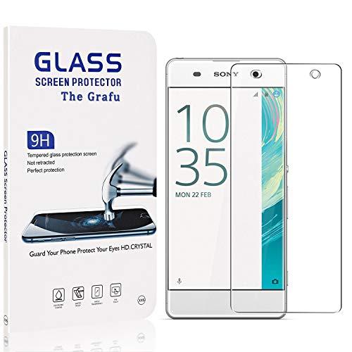 The Grafu Displayschutzfolie Kompatibel mit Sony Xperia XA, 9H Härte, Blasenfrei, Anti Kratzen Schutzfolie aus Gehärtetem Glas für Sony Xperia XA, 1 Stück