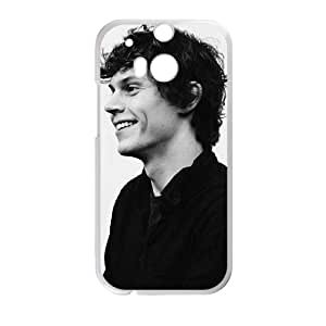 Grace Protective, Design with Evan Peters, Generation Case in Black,TPU Phone case for HTC One M8,white