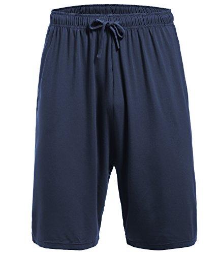 Latuza Men's Pajama Bottom Shorts L DarkBlue (Mens Shorts Pajamas)
