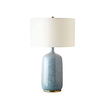 YZPTD Lámpara de mesa de cerámica americana dormitorio ...