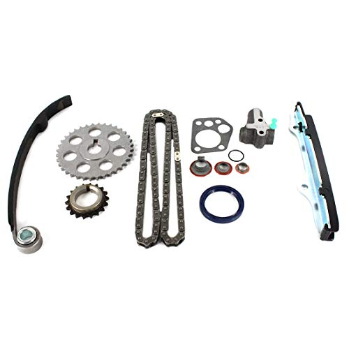 (DNJ TK607 Timing Chain Kit for 1989-1997 / Nissan / 240SX, Axxess, D21, Pickup, Stanza / 2.4L / SOHC / L4 / 12V / 2389cc / KA24E)