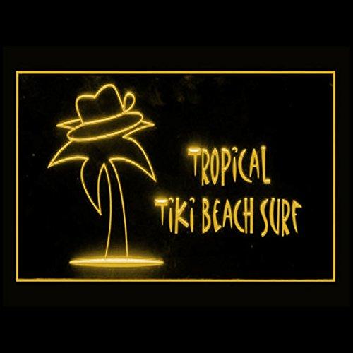 - 170182 Tropical Tiki Beach Surf Summer Paradise Hawaii Display LED Light Sign