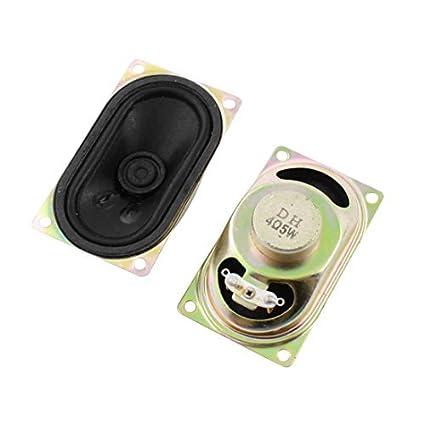 2 Pcs caixa de metal Magnet Tipo TV Speaker Amplificador 5W 4 Ohm 71 milímetros x