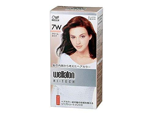 [Hair Care] P&G Wuelatone High Tech Cream 7W Warm and bright chestnut color Quasi-drug Hair dyed hair color (for women) x24 set (4902565140541)