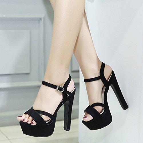 KPHY High-Heel 14 Cm Sexy Dicke Sohle Wasserdicht Zehen Rom Schuhe Sommer Flachen Mund Sandalen.
