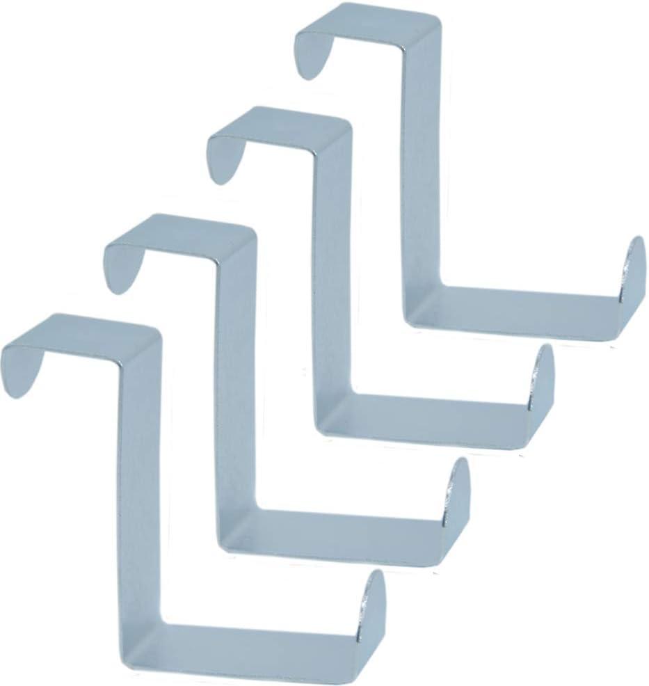 und Schubladenhaken aus Edelstahl /über T/ürhaken aus Metall wendbar Kleiderb/ügel f/ür T/üren und Schrankschubladen Baoii 8 St/ück Schrank