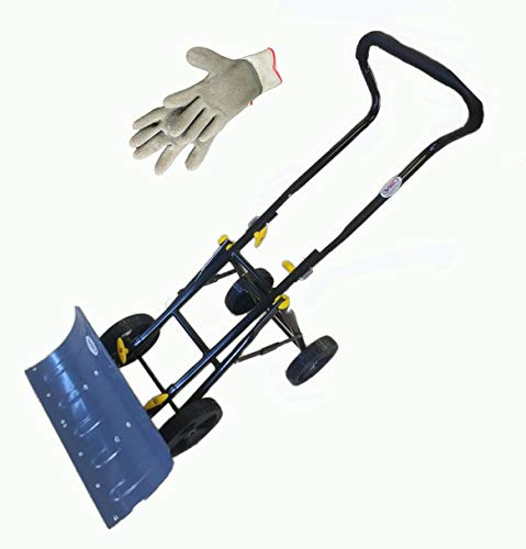 (Variety To Go Snow Shovel with Wheels Adjustable Wheeled Snow Pusher, Heavy Duty Rolling Snow Plow Shovels with 8