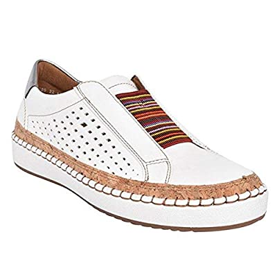 2020 New Slide Hollow-Out Round Toe Casual Women Sneakers,Breathable Slip On Flat Shoes for Woman 41 white: Clothing