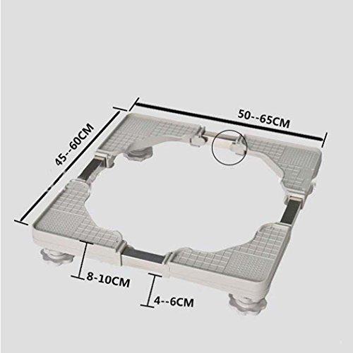 Washing Machine Base, Multi-functional Adjustable Base Washing Machine Base Plate, Stainless Steel Bracket,for Washing Machine,Dryer And Refrigerator by DSHBB (Image #1)
