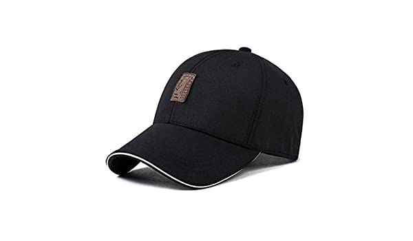 Amazon.com : Miki Da Summer Breathable Golf Hats Mens Baseball Caps Male Classical Adjustable Outdoor Bone Snapback Polo Cap Dad Hat Drake Gorras Black ...