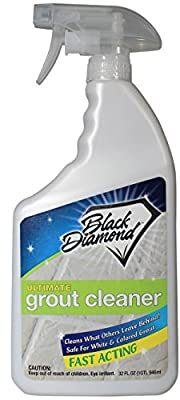 ULTIMATE GROUT CLEANER: Best Grout Cleaner For Tile and Grout Cleaning, Acid-Free Safe Deep Cleaner & Stain Remover for Even the Dirtiest Grout, Best Way to Clean Grout in Ceramic, Marble. 32oz by Black Diamond