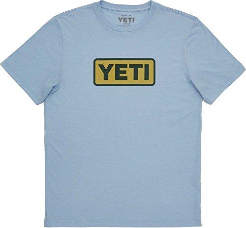 Logo Carolina Blue T-shirt - YETI Men's Core Badge Logo Short Sleeve T-Shirt (XL, Carolina Blue)