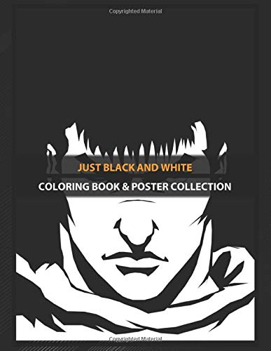 Coloring Book & Poster Collection: Just Black And White Gatzu ...