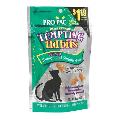 Tempting Tidbits Salmon/Shrimp Flavor CatTreat