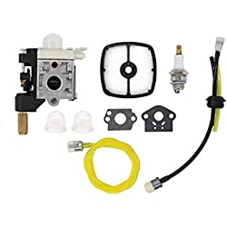Carburetor Air Filter Fuel Line Spark Plug Tune-Up Kit For Echo PE-200 SRM-210 SRM-230 SRM-225 GT-200R GT-230 GT-231 PAS-230 PAS-231 PE-230 Weeder Weed Eater String Hedge Trimmer Brushcutter Edger