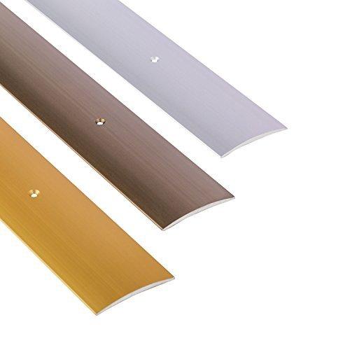 Perfil de grueso GedoTec a travé s de agujeros aluminio anodizado a travé s de velocidades de riel de perfil del suelo | De ancho de 30 - 40 - 50 mm | 3 coloures | 100 cm o de 200 cm | Made in Germany, Alu bronze eloxiert, 30 x 1000 mm GedoTe