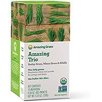 Amazing Grass Organic Amazing Trio Greens Powder with Wheat Grass (Box of 15)