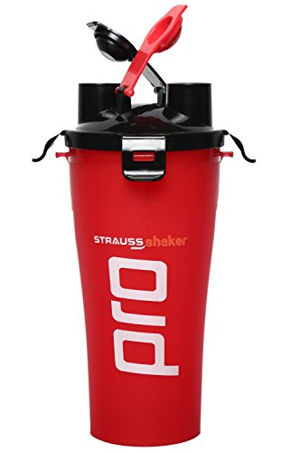 Strauss Dual Shaker Pro 700ml, (Red)